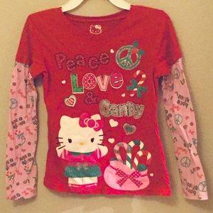 😻 Hello Kitty Holiday Girls Shirt